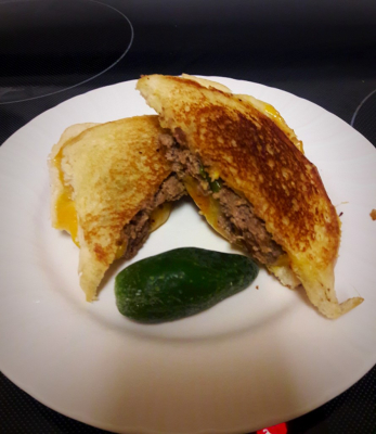 Jalapeno & Cheddar Game Patty Melts