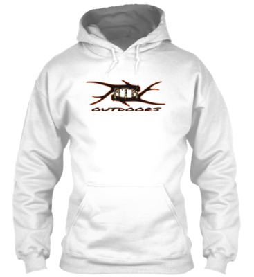White Antler Shed Hoodie